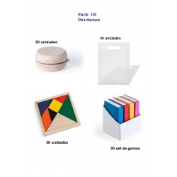 Estupendo pack regalos 30 yoyos + 30 puzzles + 30 set gomas + 30 bolsas