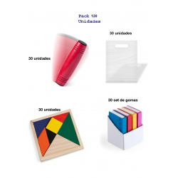 Rondux game pack + ingenuity puzzles + gift book form rubbers. 90 units