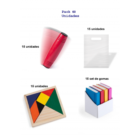 Fabulous pack birthday gifts for children 15 games rondux + 15 puzzles wit + 15set of rubber form book.