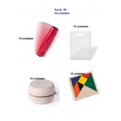 Gift pack for children's birthdays 15 rondux games + 15 yoyos + 15 ingenuity puzzles