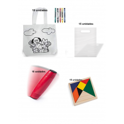 Pack of 15 coloring bags +...