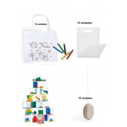 Pack 15 bolsas colorear +...