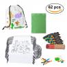 Pack 30 backpacks, 30 wax packs + case + dinosaur rubber egg