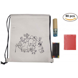 (AMAZON) 30 Animal Backpacks + Waxes and Blue Cases pencils and pencil sharpeners