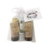 Miniature Event Guest Gift Cosmetics lips protector, bodymilk and shampoo