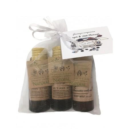 Gel Shampoo and Bodymilk in organza bag