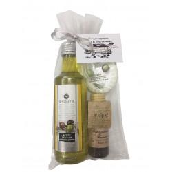 Detalle de boda (Aceite de oliva, body milk y pastilla de jabón)