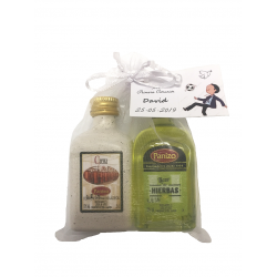 Pack 24 Unidades de miniaturas licores panizo crema orujo + hierba