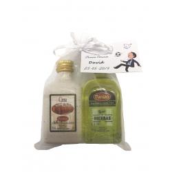 Pack 24 unités de liqueurs miniatures panizo crème grignons + herbe