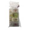 Pack de 24 miniatures de liqueur de panizo: Liqueur aux herbes, Crème de Marc, Crème de riz et Caramelorujo en sachet d'organza.
