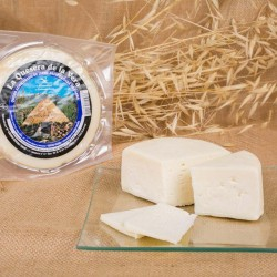 Semi-cured goat cheese from...