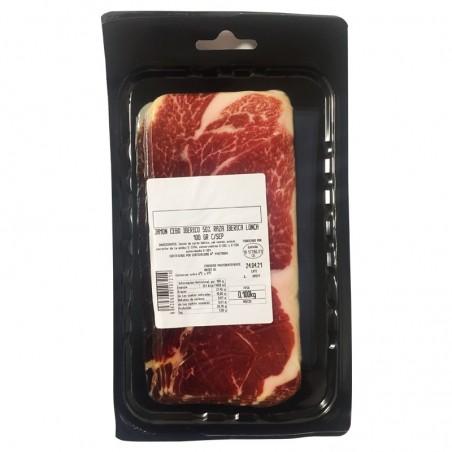 Iberian ham, cut with machine tastés