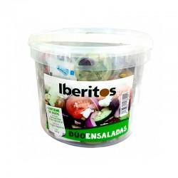 Cubo 30 monodosis para ensalada: Vinagre - Aceite Virgen Extra - Sal, Iberitos dúo ensalada