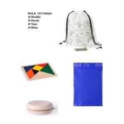 Pack 30 backpacks + 30 yoyos + 30 ingenuity puzzles