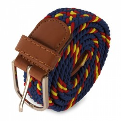 Belt for men Navy color and Spain flag