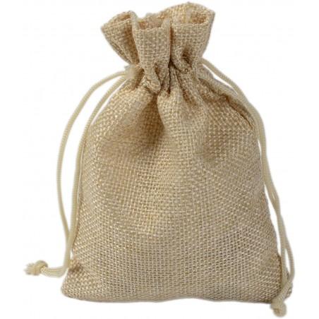 Natural linen bag 13x18 cm