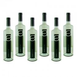 Lote 6 botellas de vino blanco semi-dulce Dulce Eva