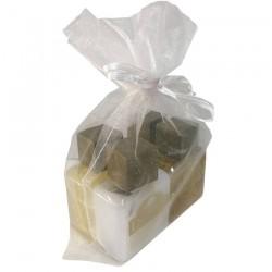 copy of Organza sac avec gel du bain, shampoing, créme pour le corp et eau de cologne pour événement