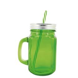Green glass pitcher 500 ml
