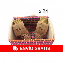 Pack of 24 miniature trunks, gel and bodymilk