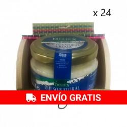24 paquets de pots de fromage de brebis avec tronc coloré