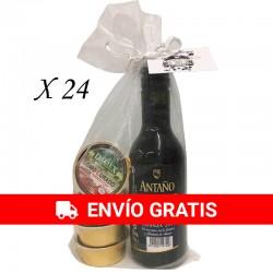 Surtido de paté (4) con Vino Antaño para regalar (24ud)