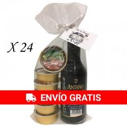 Vino Antaño con variedad de patés para regalos (24ud)