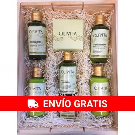Large Ecological Cosmetic Wood Case Olivita La Chinata nº2
