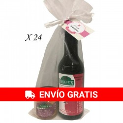 Pack 24 botellas Vino Deliex y crema york-queso