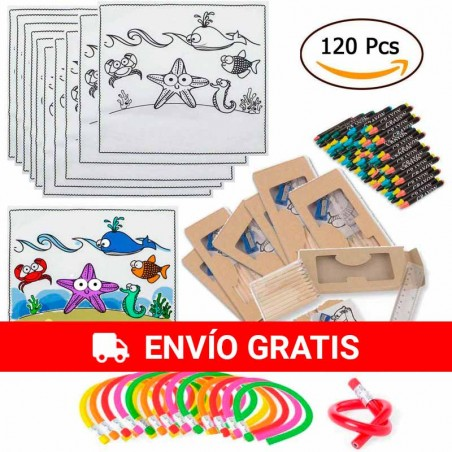 (amazon) 30 Tablecloths with 30 Waxes, 30 Cases with tools and 30 Moldable Pencils