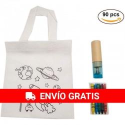 (AMAZON) 30 sacs planètes et étuis BLEU avec crayons et taille-crayons