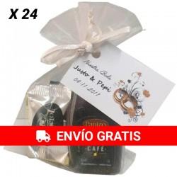 Licor de café con napolitanas de chocolate para regalar (24UD)