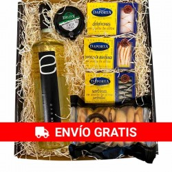 Estuche Picoteo 6 - Vino Dulce Eva, conservas, queso y picos Deliex