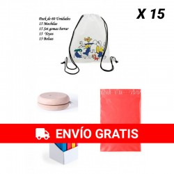 Funny and economical gift pack for children's birthdays Children's backpacks + yoyos + Gums form book.