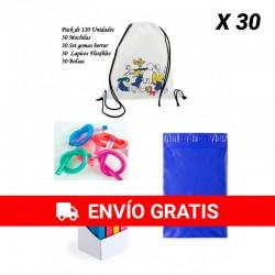Pack de regalos infantiles Mochilas infantiles +Yoyos + Gomas de borrar con bolsas para guardar regalos