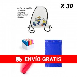 Great lot details children's birthday Backpacks + Rondux + Erasers