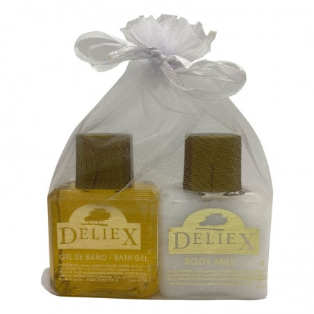 Shower gel and bodymilk for events Deliex