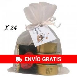 Monodosis de paté con napolitanas de chocolate para regalar.