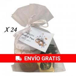 Miel con Nueces Deliex con napolitanas de chocolate para regalar (24 Ud)