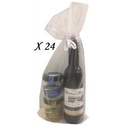 Miniatura de Vino con tarros de queso para regalar (24 ud)