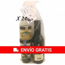 Detalles de cremas de queso con vino Antaño Rioja para regalos