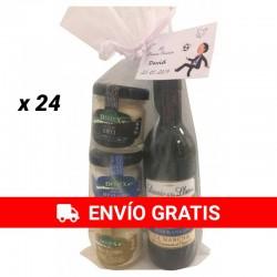 Pack de Vino y quesos (Señorío de los llanos y cremas de queso) 24 Unidades