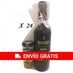 Tarros de queso con Vino Antaño para regalos (24 pack)