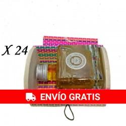 Detalle para bodas Aceite de Oliva en baúl de colores (24 ud)