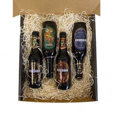 Pack degustación 4 cervezas artesanas Sevebrau