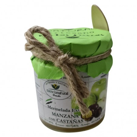 Extra Jam of Apple with Chestnuts + Spoon 250 Ml
