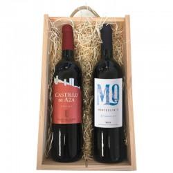 Práctico Estuche de ragalo con 2 botellas de vino