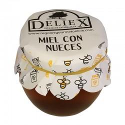 Pot de miel avec nois pour details du 115 gr