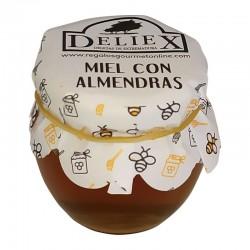 Pot du miel avec amande 115 gr pour cadeaux