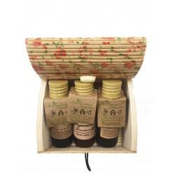 24 pack Recuerdos de comunión| Baules flores, bodymilk, champú y gel.